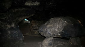 Inside Great ancient caves FHD stock footage