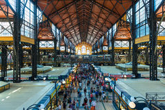 Inside the Great Market Hall in Budapest Royalty Free Stock Photos