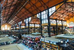 Inside the Great Market Hall in Budapest Royalty Free Stock Images