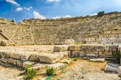 Inside the Greek Theatre of Segesta, Sicily, Italy Stock Photos