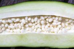 Inside of a green papaya Stock Image