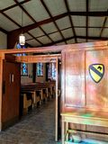 Inside Greywolf Chapel. At Fort Hood, Texas Royalty Free Stock Photos