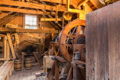 Inside grist mill Stock Photography