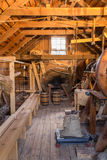 Inside grist mill Stock Image