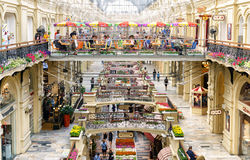 Inside the GUM (main department store) in Moscow Royalty Free Stock Photo