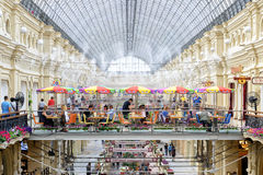 Inside the GUM (main department store) in Moscow Royalty Free Stock Photography
