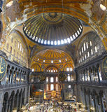 Inside the Hagia Sofia (Istanbul) Royalty Free Stock Photos