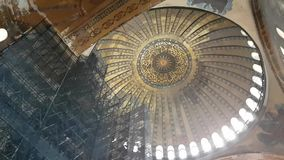 Inside of Hagia Sofia in Istanbul stock footage