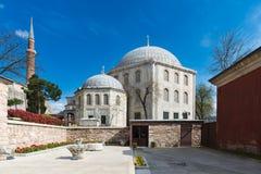 Inside Hagia Sofia Meczetowy muzeum na Kwietniu 08 Istanbuł, Turcja Obrazy Royalty Free