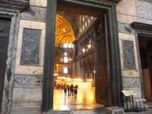Inside the Hagia Sofia (Aya Sofya) Royalty Free Stock Photo