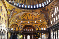 Inside Hagia Sophia Stock Photos
