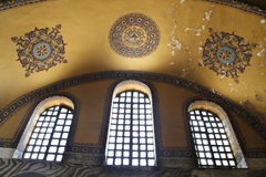 Inside Hagia Sophia. Istanbul Royalty Free Stock Photo