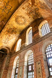 Inside the Hagia Sophia in Istanbul, Turkey. Interior of the Hagia Sophia on May 25, 2013 in Istanbul, Turkey. Hagia Sophia is the greatest monument of Byzantine royalty free stock photography