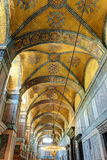 Inside the Hagia Sophia in Istanbul, Turkey royalty free stock images