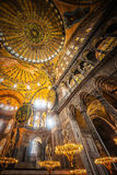 Inside the Hagia Sophia Royalty Free Stock Photography