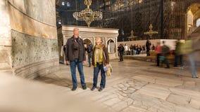 Inside Hagia Sophia stock video