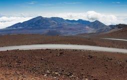 Inside the Haleakalā Volcano stock images