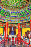 Inside in Hall of Prayer for Good Harvests on the complex Temple Royalty Free Stock Photos