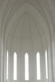 Inside of Hallgrimskirkja Cathedral Stock Photography