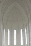 Inside of Hallgrimskirkja Cathedral Stock Photography