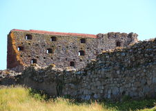 Inside Hammershus Castle ruin at Bornholm Royalty Free Stock Photo