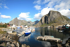 Inside Hamnoy's  harbour Stock Photography