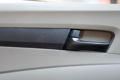 Inside handle car door. Inside black handle car door royalty free stock photos