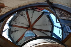 Inside Harbor of Refuge Lighthouse Lewes Beach Royalty Free Stock Images