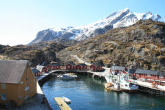 The  inside harbour of Nusfjord II Royalty Free Stock Photography