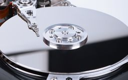 Inside of hard disc Stock Photos