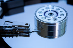 The inside of the hard disc Royalty Free Stock Images