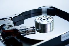The inside of the hard disc Stock Images