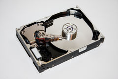 The inside of the hard disc Royalty Free Stock Photography