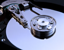 Inside hard disk Stock Photography