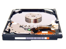 Inside hard disk Royalty Free Stock Photos