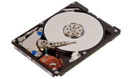 Inside a hard disk drive Royalty Free Stock Photo