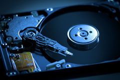 Inside Hard Disk drive Royalty Free Stock Photo