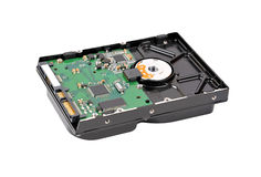 Inside hard disk drive Stock Photography