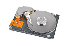 Inside hard disk drive Stock Photo