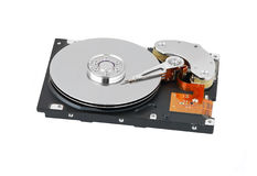Inside hard disk drive Royalty Free Stock Photography