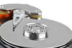Inside hard disk drive Stock Photos