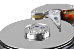 Inside hard disk drive Royalty Free Stock Image