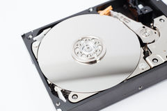 Inside Hard Disk Drive (HDD)-Computer Hardware Components. Stock Photos
