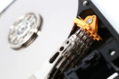 Inside Hard Disk Drive (HDD)-Computer Hardware Components. Royalty Free Stock Photography