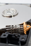 Inside Hard Disk Drive (HDD)-Computer Hardware Components. Stock Photography