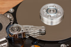 Inside of hard disk Stock Images
