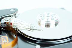 Inside of a hard disk of personal computer Stock Photography