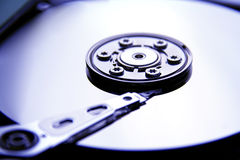Inside of Hard drive. Inside of a computer hard drive Royalty Free Stock Photos