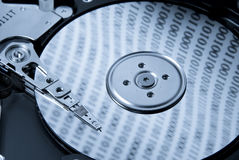 Inside hard drive Royalty Free Stock Photo