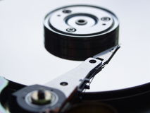 Inside Hard Drive. Inside Computers Hard Drive royalty free stock photo